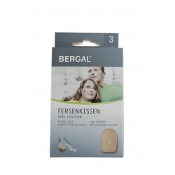 Самозалепваща се възглавничка за пета от естествена кожа Bergal 6165