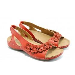 Дамски анатомични сандали Jump 5079 червено
