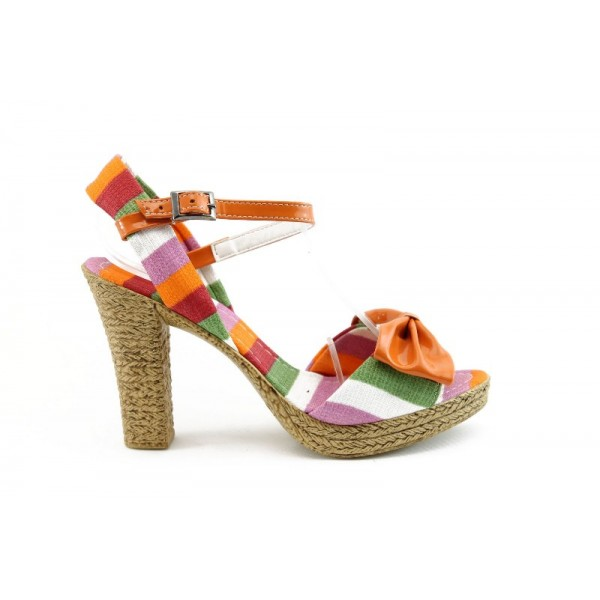 Дамски сандали на ток МИ 20оранж