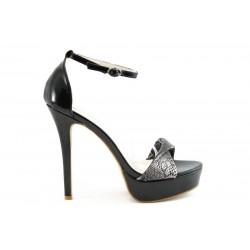 Дамски сандали на висок ток ФР 8283Ч