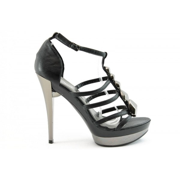 Дамски сандали на висок ток ФР 0736Ч