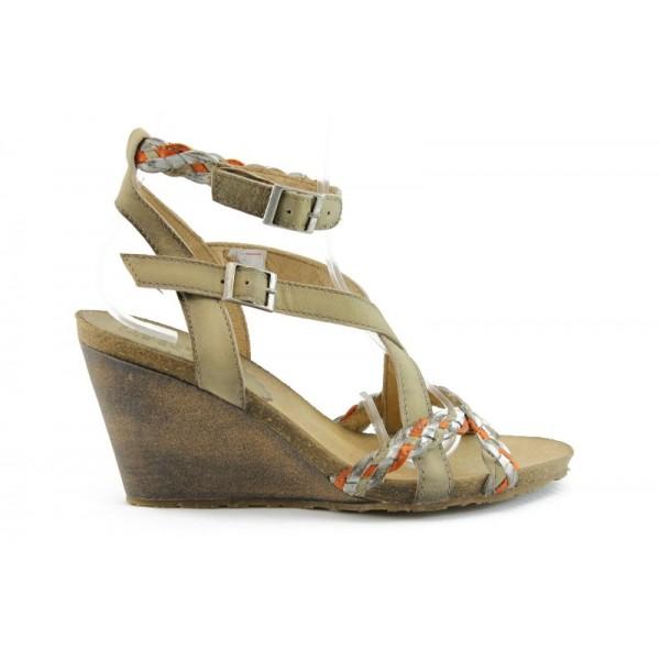 Дамски сандали на платформа ИО 878 Б