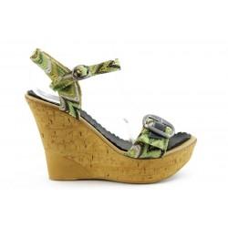 Дамски сандали на ток платформа МИ 163Ч