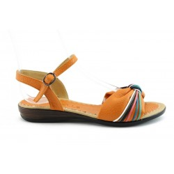 Равни дамски сандали МИ600 Оранж