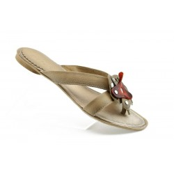 Дамски чехли естествена кожа ИО 1173К