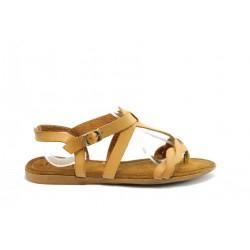 Равни дамски сандали ПИ1050Кафе