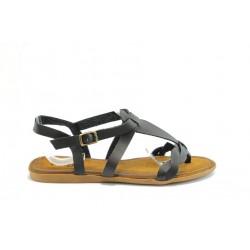 Равни дамски сандали ПИ1050Черен