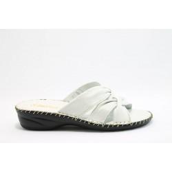 Дамски анатомични чехли естествена кожа ГР 7287Бял