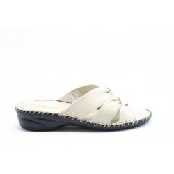 Дамски чехли естествена кожа ГР 7287БЕЖ