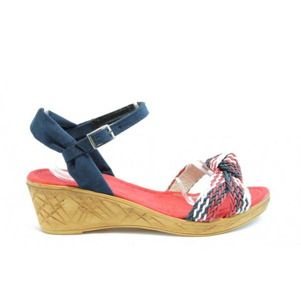 Дамски сандали на платформа МИ К18Червен