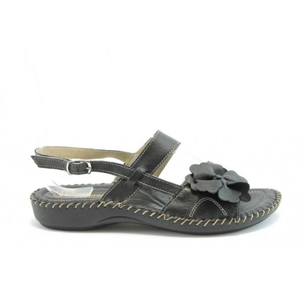 Равни анатомични сандали ГР 7621 Черен