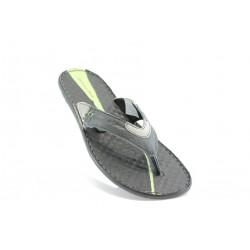 Мъжки чехли естествена кожа МЙ71162Черен