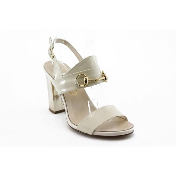Дамски сандали на висок ток ИО 1453 бежова
