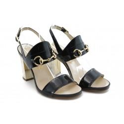 Дамски сандали на висок ток ИО 1453 черна