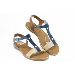 Дамски сандали от естествена кожа Tamaris 28175син