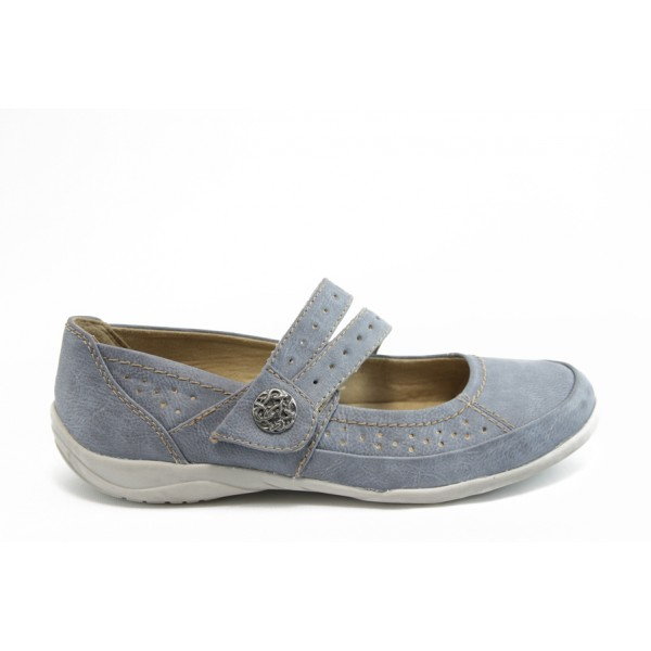 Равни дамски обувки Jana 22168 син