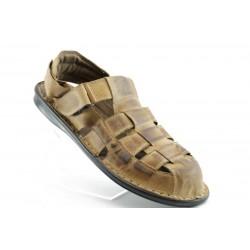 Мъжки сандали естествена кожа КН135КАФЕ