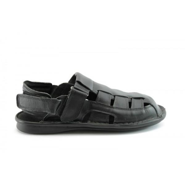 Мъжки сандали естествена кожа КН135Черен
