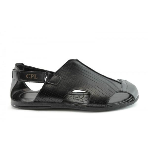 Мъжки сандали естествена кожа КО 05-14Черен