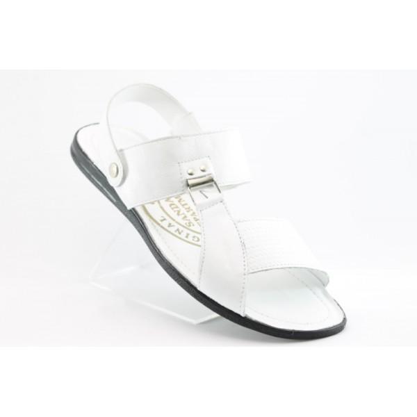 Мъжки сандали естествена кожа КО542БЯЛ