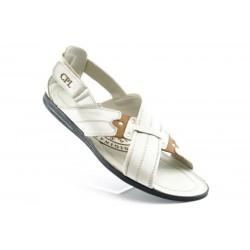Мъжки сандали естествена кожа КО 06беж