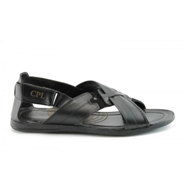 Мъжки сандали естествена кожа КО 06Черен