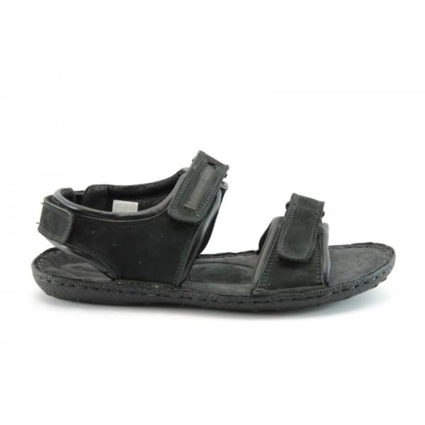 Мъжки анатомични сандали естествена кожа МЙ71136Черен