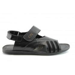 Мъжки сандали естествена кожа КО 03Черен