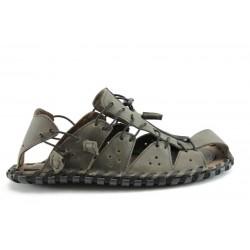 Мъжки сандали естествена кожа КН60415СИВ
