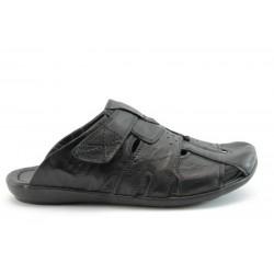 Мъжки чехли естствена кожа ГР065Ч