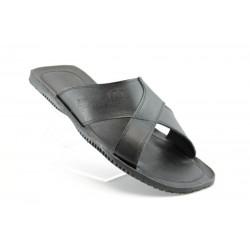 Мъжки чехли естествена кожа МИ18Черен