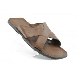 Мъжки чехли естествена кожа МИ18КАФЕ
