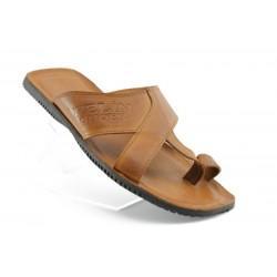 Мъжки чехли естествена кожа МИ17КАФЕ