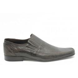 Мъжки обувки без връзки КО 3460 кафе
