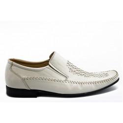 Мъжки обувки от естествена кожа АК 10 бежово