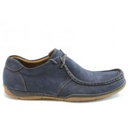 Мъжки анатомични обувки естествена кожа МИ К50Син