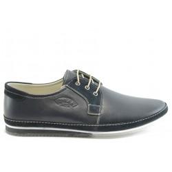 Мъжки анатомични обувки с връзки ПИ 720син