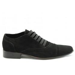 Мъжки спортно-елегантни обувки ДИ 909ч.велур
