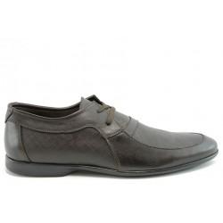 Мъжки обувки от естествена кожа КО 15053Кафе