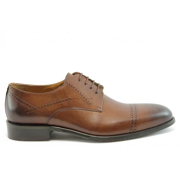 Елегантни мъжки обувки АК 6018Кафе