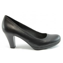 Немски обувки на ток естествена кожа Tamaris 22410черно ANTISHOKK