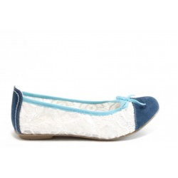 Равни дамски обувки Jana 22161 бели