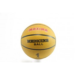 Медицинскa топкa жълта Maxima Medicine ball 1кг.