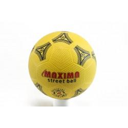 Футболна гумена топка жълта Maxima Street Ball