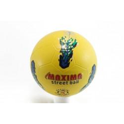Футболна гумена топка жълто-синя Maxima Street Ball жс