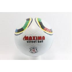 Футболна гумена топка бяла Maxima Street Ball бяла