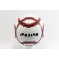 Футболна топка Maxima бяло - червена